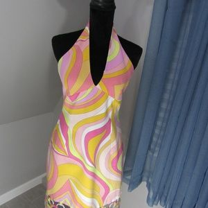 LAUNDRY HALTER DRESS!